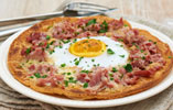 Ham Hock, Gruyere and Duck Egg Spelt Galettes