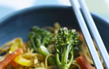Vegetarian Tenderstem Broccoli and Peanut Noodles