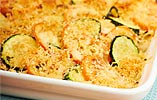 Courgette, Tarragon, Tomato and Reduced Fat Cheese Gratin