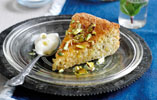 Pistachio Cake with Honey Syrup