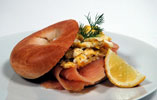 Perfect Scrambled Eggs With Smoked Salmon and a Toasted Bagel