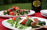Mushroom and Cherry Tomato Skewers