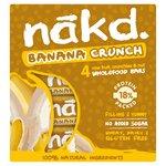 Nakd Free From Banana Crunch Fruit & Nut Bar Multipack