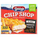 Young's 4 Bubbly Battered Chip Shop Haddock Fillets Large Frozen