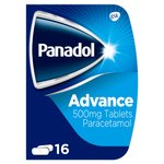 Panadol Advanced 500mg Paracetamol Tablets