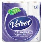 Quilted Velvet Pure White Toilet Tissue