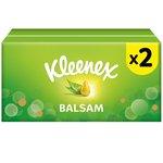 Kleenex Balsam Regular White Tissues Twin Pack