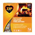 ZIP Odourless Fast & Clean Wrapped Firelighters
