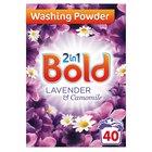 Bold 2in1 Bio Washing Powder Lavender & Camomile 40 Washes