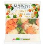 Waitrose Frozen Chunky Vegetable Mix essential