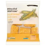 Essential Waitrose Frozen Mini Supersweet Corn Cobs