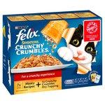 Felix Sensations Crunchy Crumbles Meat 7 Pouches + 4g Topping