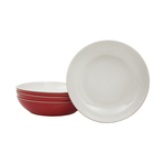 Denby Everyday Stoneware Pasta Bowl Set, Red