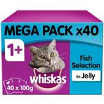 Whiskas 1+ Cat Food Pouch Fish in Jelly