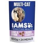 Iams Adult Dry Cat Food Multicat Chicken & Salmon