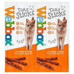 Webbox Cats Delight 6 Tasty Sticks with Turkey & Lamb