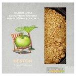 Heston from Waitrose Rhubarb Apple & Strawberry Crumble