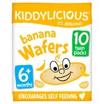 Kiddylicious 20 Banana Wafers from 6+ Months