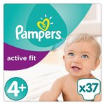 Pampers Active Fit Nappies Size 4+ Essential Pack