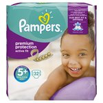 Pampers Active Fit Nappies Size 5+ Essential Pack