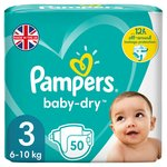 Pampers Baby Dry Nappies Size 3 Essential Pack
