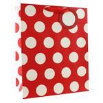 Red Polka Dots Gift Bag Large