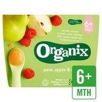 Organix Organic Fruit Puree Pear, Apple & Raspberry
