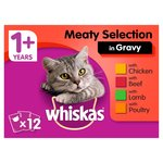 Whiskas 1+ Pouch Meat Selection in Gravy