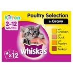 Whiskas Kitten Pouches Poultry in Gravy