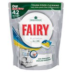 Fairy Platinum All in One Lemon Dishwasher Tablets