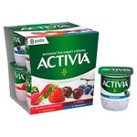 Activia Strawberry , Raspberry , Blackberry and Blueberry & Cherry Yogurts