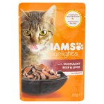 Iams Delights Beef & Liver in Gravy Pouch
