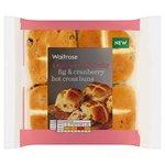 Fig & Cranberry Hot Cross Buns Waitrose