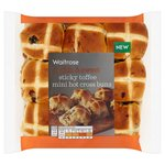 Sticky Toffee Hot Cross Buns Waitrose