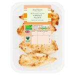 4 Roast Chicken Breast Fillets Waitrose