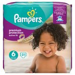 Pampers Active Fit Premium Protection Size 6 Essential Pack