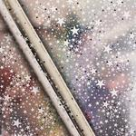 Waitrose Holographic Star Silver Gift Wrap 4m