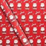 Waitrose Red Santa Gift Wrap 4m