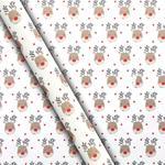 Waitrose White Reindeer Gift Wrap 4m