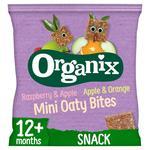Organix Goodies Apple & Orange, Raspberry & Apple Mini Oaty Bites
