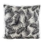Raine & Humble Palm Fringe Cushion, Black