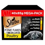 Sheba Fine Flakes Pouches Poultry in Jelly