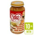 Cow & Gate Creamy Mushroom & Chicken with Noodles Jar 10 Mths+