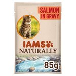 Iams Naturally Adult Cat Pouch with Salmon