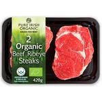 Pure Irish Organic 2 Ribeye Steaks