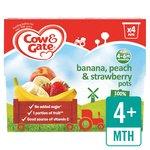 Cow & Gate Banana, Peach & Strawberry 100% Fruit Pots