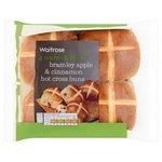 Waitrose Bramley Apple & Cinnamon Hot Cross Buns