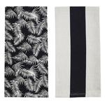Raine & Humble Palm Tea Towel, Raven