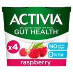 Activia 0% Fat Raspberry Yogurts