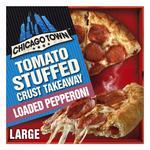 Chicago Town Take Away Pepperoni Pizza Stuffed Crust Frozen